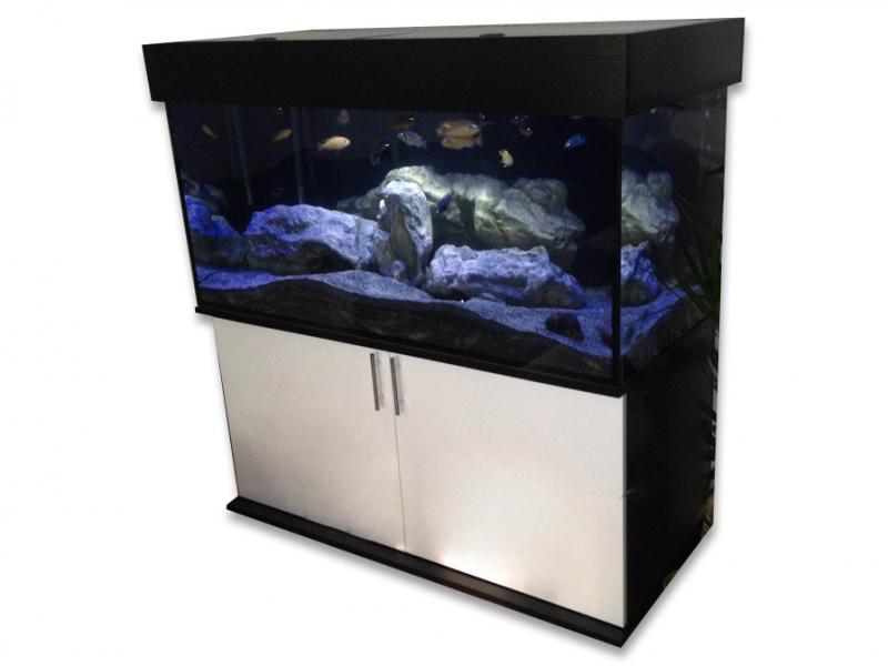 komplett aquarium modern 468 130x60x60 rechteck 468l. Black Bedroom Furniture Sets. Home Design Ideas