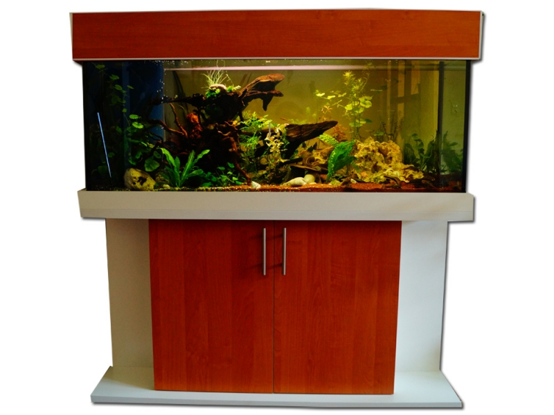 Aquarium Komplett 110 L Stabile Konstruktion Haustierbedarf Fische & Aquarien