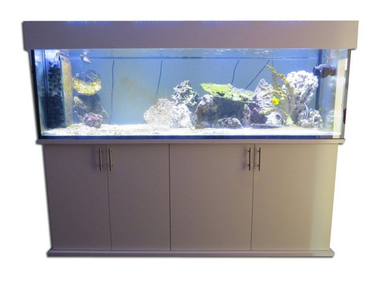 Aquarium Komplett 110 L Stabile Konstruktion Fische & Aquarien