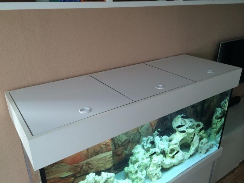 Aquarium abdeckung comfort 150x60 bei meduza6 for Aquarium unterschrank bauen